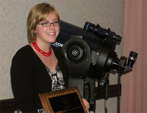 Naomi Pequett 2007 Outstanding Young Astronomer