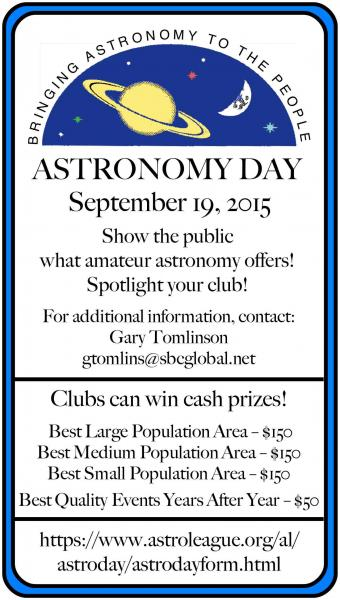 Astronomy Day Sept 19th