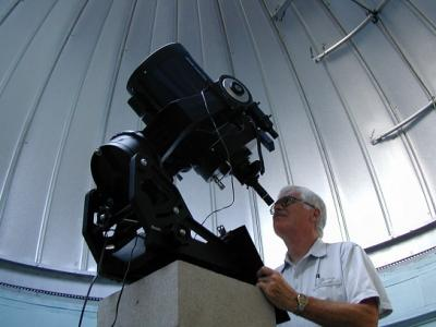 Jim Fox at telescope