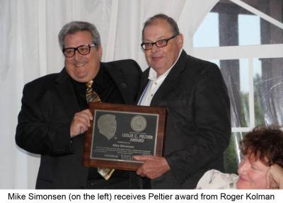 Mike Simonsen receives 2012 Peltier Award
