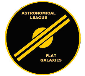 Flat Galaxies observing club logo