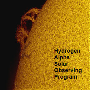 Hydrogen-Alpha Solar Program Pin